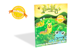 Bilingual Coloring Book with Stickers