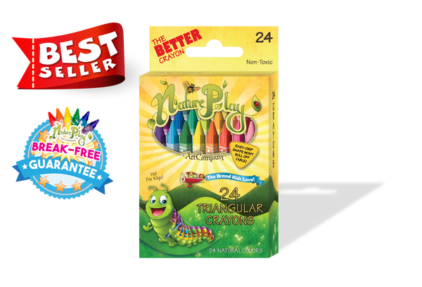 Triangular Crayons set of 24 - Best Seller