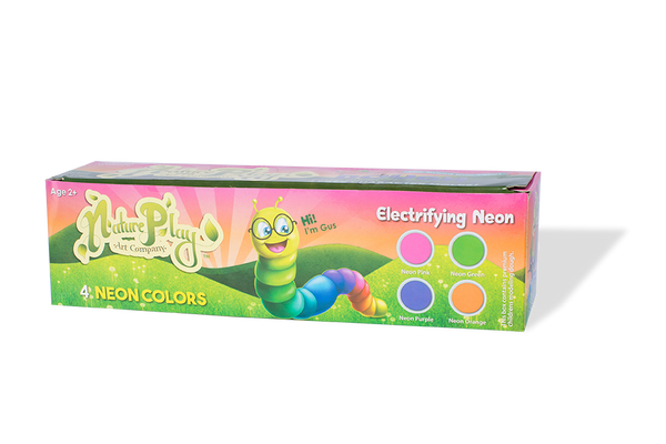 Natureplay-Dough 4 Electrifying Neon Colors