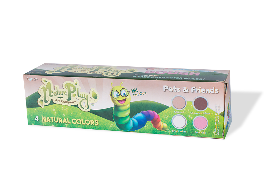 Natureplay-Dough 4 Pets & Friends Colors
