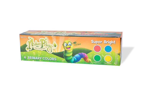 Natureplay-Dough 4 Super Bright Primary Colors