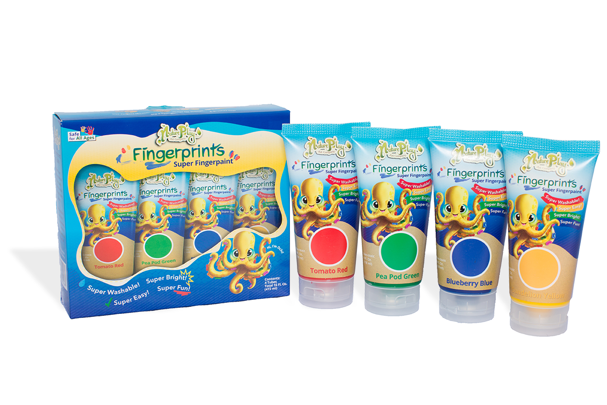 Fingerprints Super Fingerpaint 4 - 4oz. Tubes