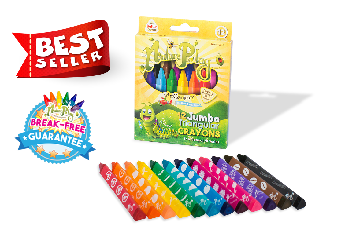 Jumbo Triangular Crayons set of 12 - Best Seller