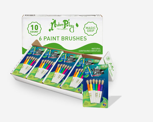 "Triangular Grip Paint Brushes ""Magic Grip"""
