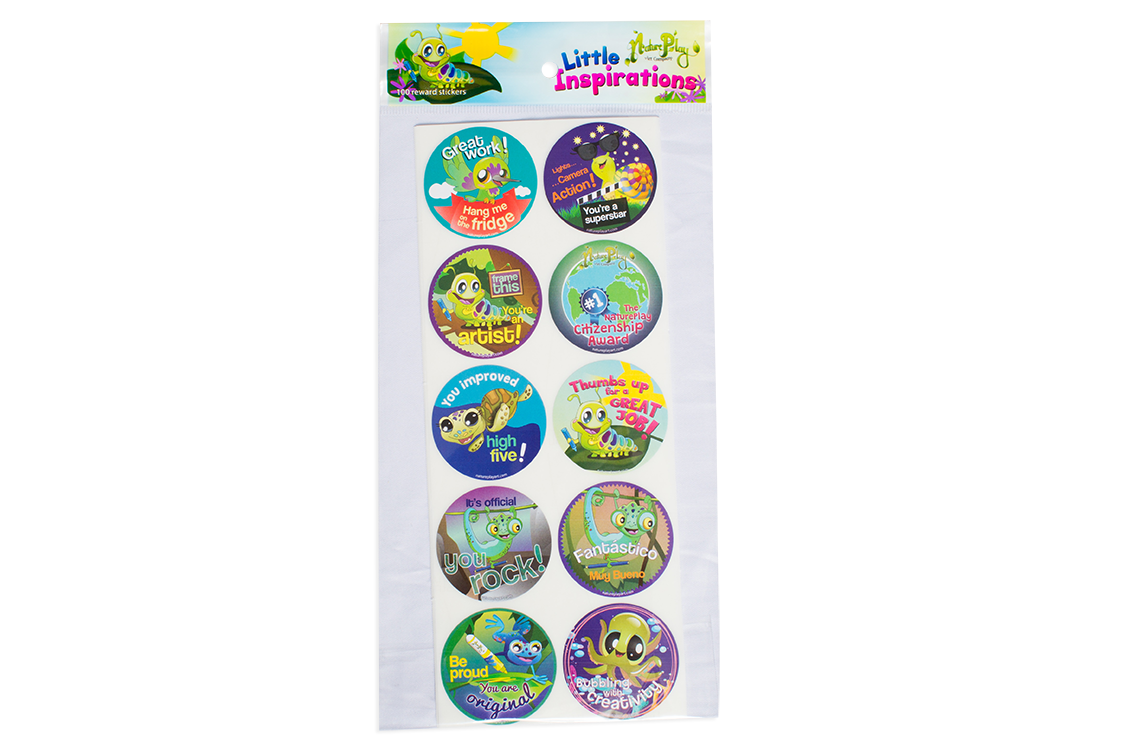 Little Inspirations Reward Stickers - 100 Count, 10 Designs