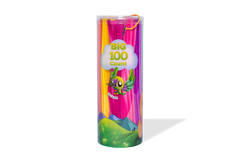 Super Giant Fuzzy Sticks - 100 Stick Tube with 10 Vibrant Colors