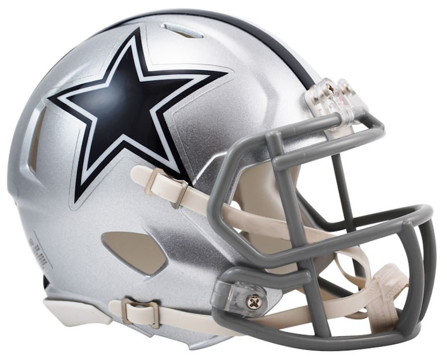 Dallas Cowboys Speed Riddell Mini Football Helmet Unsigned Riddell