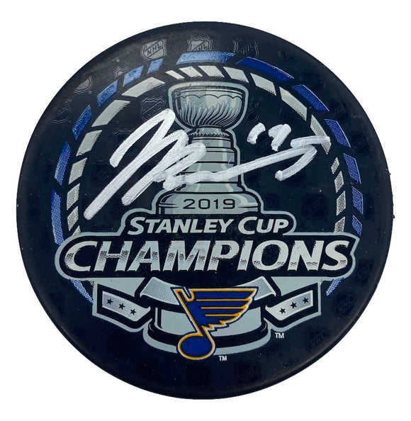 Jay Bouwmeester St Louis Blues Autographed Stanley Cup Champions Logo Puck - Fan Cave Sports