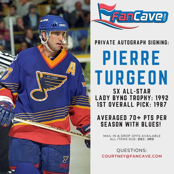Pierre Turgeon St Louis Blues PRIVATE SIGNING Autograph Ticket - Fan Cave Sports