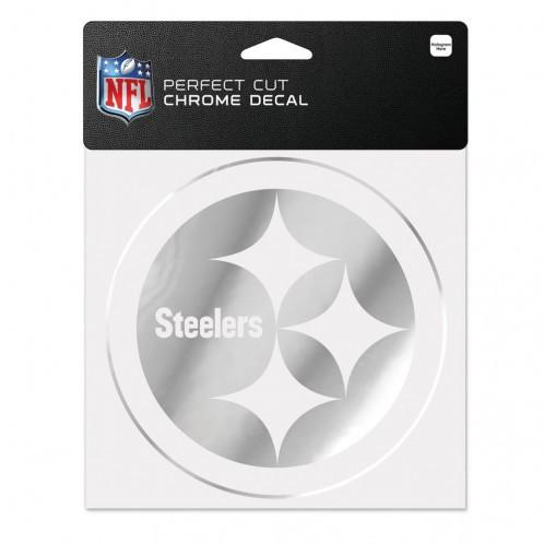 Pittsburgh Steelers Perfect Cut Chrome Decal 6x6 - Fan Cave Sports