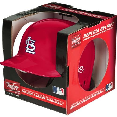St Louis Cardinals Rawlings Full Size Replica Helmet with Engraved Stand - Fan Cave Sports