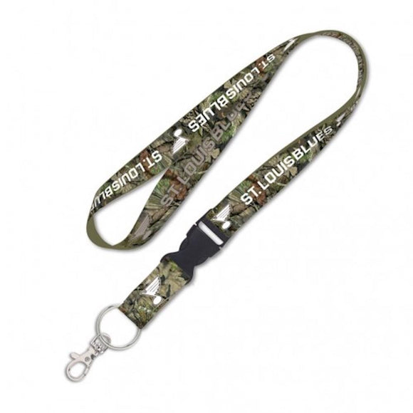St Louis Blues Camo Lanyard with Detachable Buckle - Fan Cave Sports