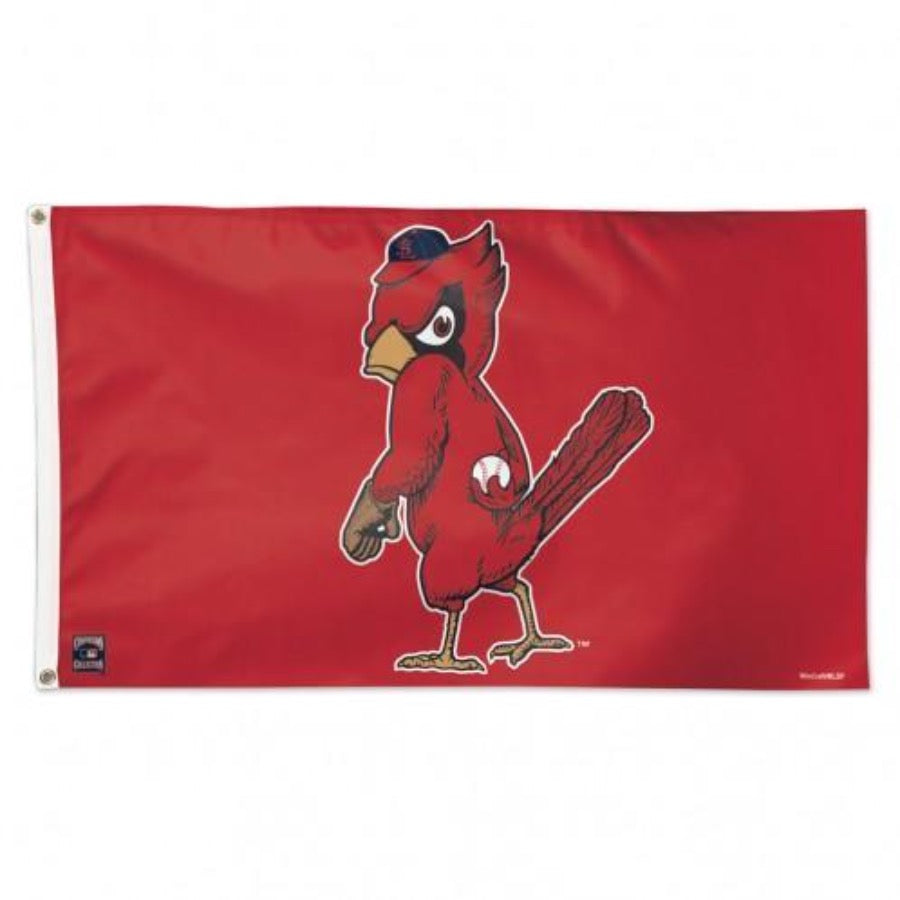 St Louis Cardinals Cooperstown Angry Bird 3' X 5' Deluxe Flag - Fan Cave Sports