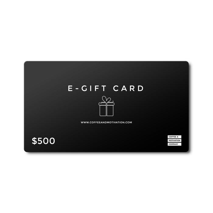 Premium E-Gift Card | Coffee & Motivation Company -  Gift Card - Coffee & Motivation Company