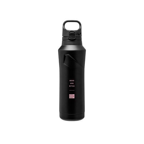 Boss Ass Bitch - 20.9oz Matte Black Motivational Thermal Tumbler Bottle & Travel Mug -  Travel Mugs - Coffee & Motivation Company