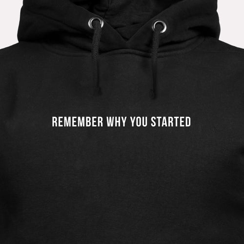 Remember Why You Started - Motivational Hoodie [PRE-ORDER MAY 31]