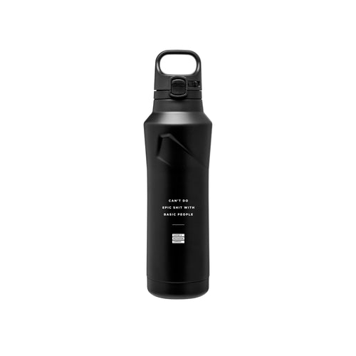 Can't Do Epic Shit With Basic People - 20.9oz Matte Black Motivational Thermal Tumbler Bottle & Travel Mug -  Travel Mugs - Coffee & Motivation Company