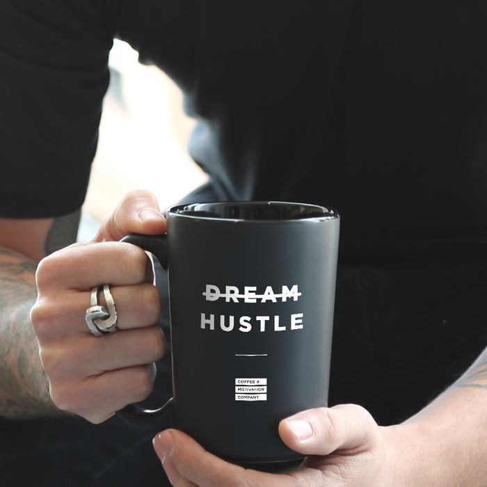 Hustle - 15oz Matte Black Motivational Coffee Mug
