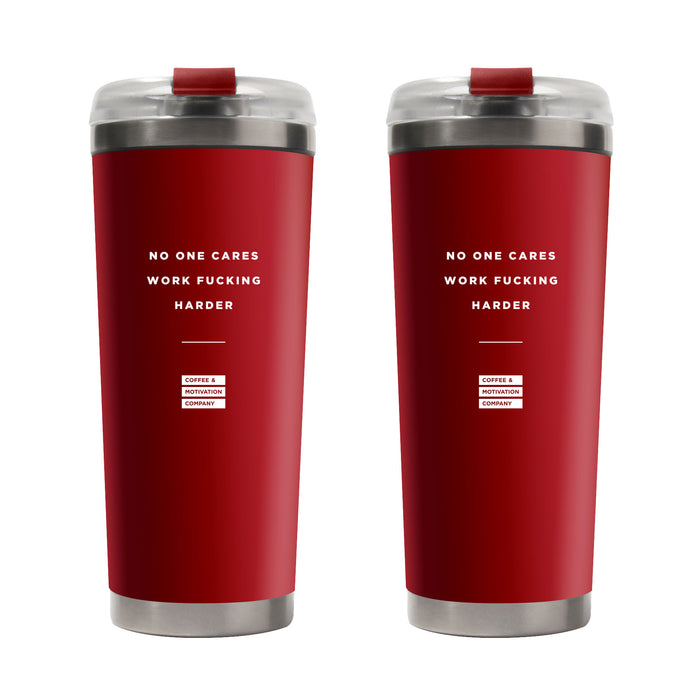 Two Pack Red Limited Edition Red Motivational Tumbler -  Travel Mugs - Coffee & Motivation Company