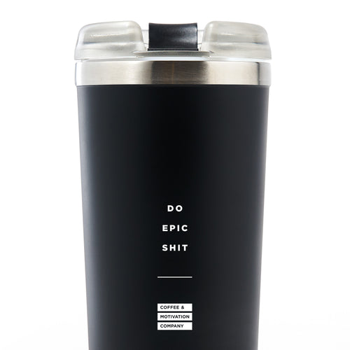 Do Epic Shit - 24oz Matte Black Motivational Travel Tumbler + Straw [PRE-ORDER MAY 31]