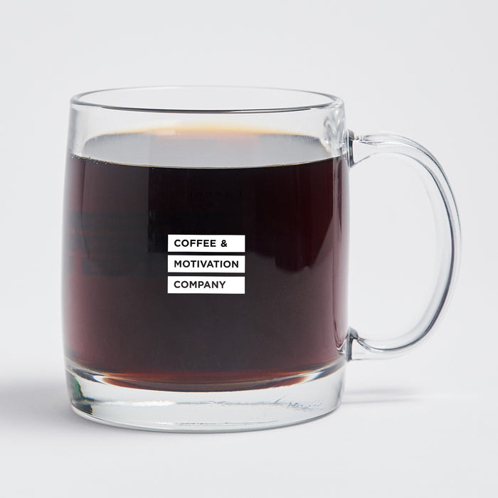 Can't Do Epic Shit with Basic People - 13oz Double Wall Motivational Glass Coffee Mug