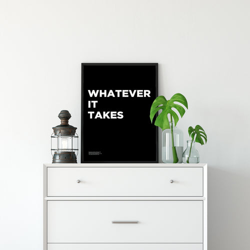 Whatever It Takes - Premium Motivational Canvas Art
