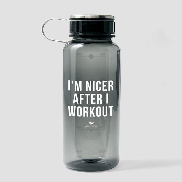 I'm Nicer After I Workout - 33.8 oz Water Bottle