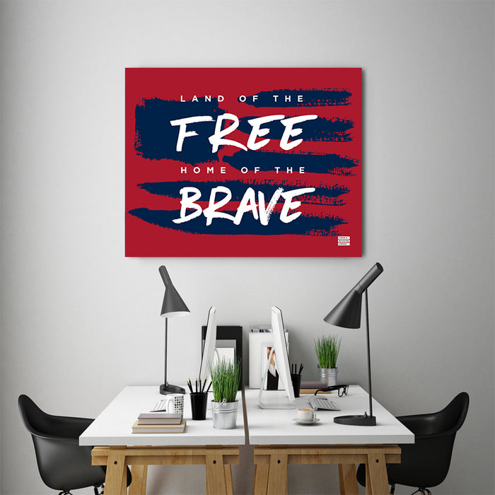 Land Of The Free Home Of The Brave - Premium Motivational Canvas Art -  Canvas - Coffee & Motivation Company