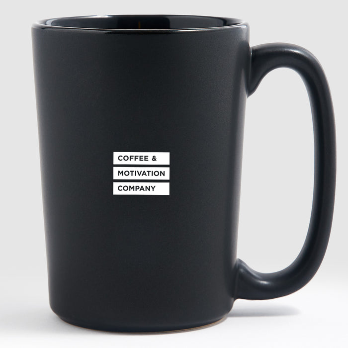 No handouts no favors straight hustle - Matte Black Motivational Coffee Mug
