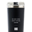 No One Cares Work Fucking Harder - 24oz Matte Black Motivational Travel Tumbler + Straw