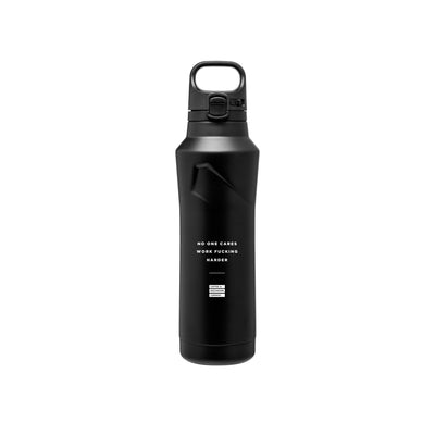 No One Cares Work Fucking Harder - 20.9oz Matte Black Motivational Thermal Tumbler Bottle & Travel Mug -  Travel Mugs - Coffee & Motivation Company