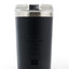 No One Cares Work Harder - 24oz Black on Black Motivational Travel Tumbler + Straw