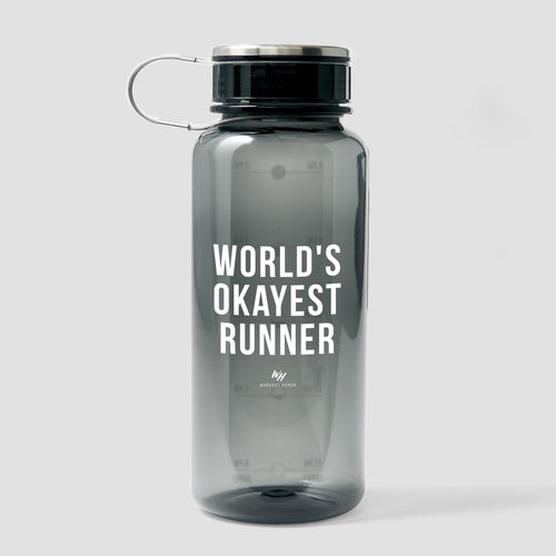 World's Okayest Runner - 33.8 oz Water Bottle