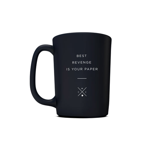 15oz Matte Black Motivational Coffee Mug w/ Quotes -  Discounted - Coffee & Motivation Company
