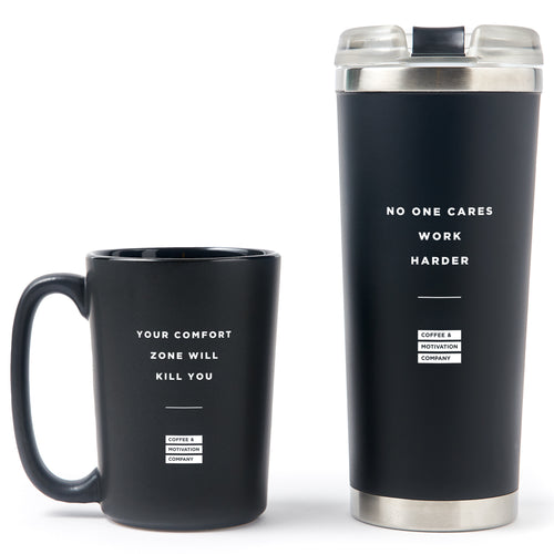 Motivational Coffee Mug & Tumbler Bundle Gift Set