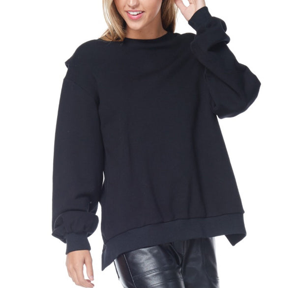 Crisscross Open Back Sweatshirt