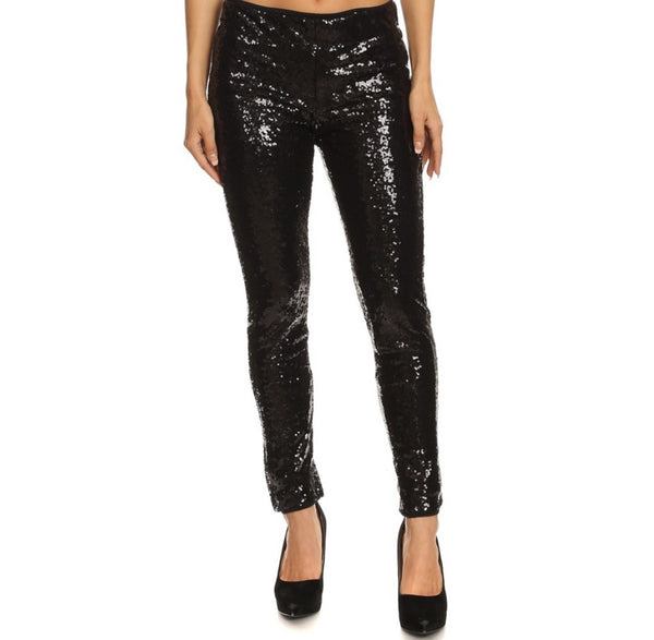 Curvy Midnight Glitter Pants