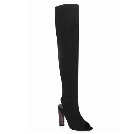 Peep Toe Over the Knee Boot