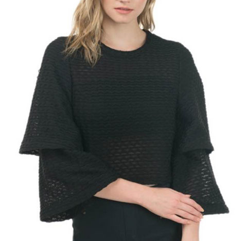 Lovely Layers Bell Sleeve Crop Top