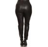 Studio Slit Knee Leather Leggings