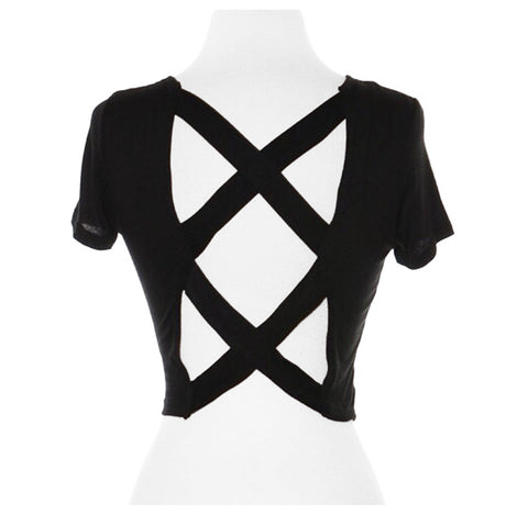 #Bored Caged Back T-Shirt - The Perfect Pair Boutique