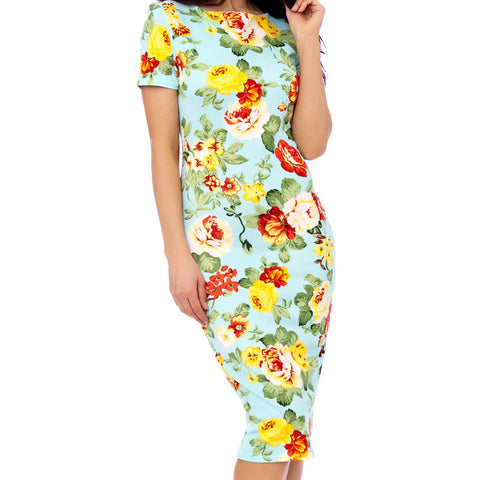 Flirty Floral Pencil Dress