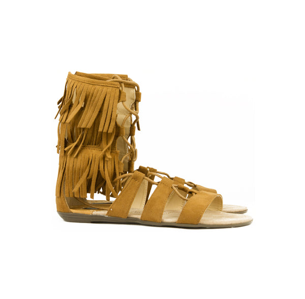 Fringe Over Ankle Gladiator Sandal - The Perfect Pair Boutique