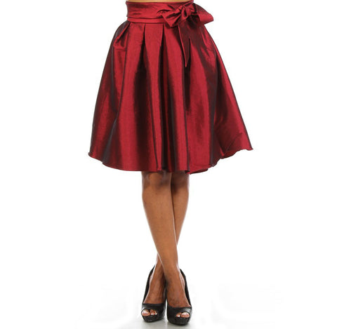 Flirty Bow Satin Skirt