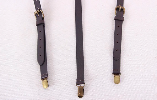 Pinot Leather Suspenders - Black Coffee -  The Leatherie