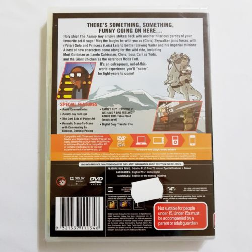 Family Guy: Something Darkside DVD Limited Edition Star Wars Parody Exclusive - 1000 Things Australia