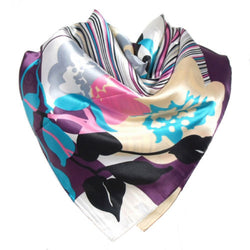 Floral Print Head Multi-Coloured Scarf - 1000 Things Australia