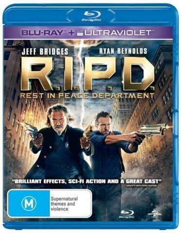 R.I.P.D Blu-ray B AU Disc 2014 Pal Ryan Reynolds Jeff Bridges Kevin Bacon Action-DVDs & Movies DVDs & Blu-ray Discs-1000 Things Australia