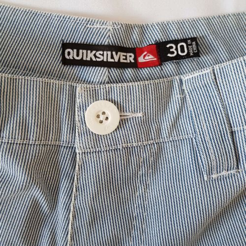 QUIKSILVER Casual Blue & White Pinstripe Men's Shorts - 1000 Things Australia