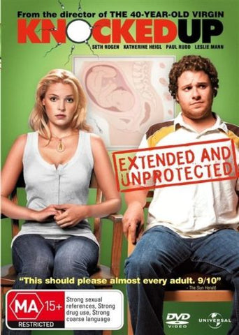 Knocked Up DVD 2007 Comedy Movie Region 4 PAL Seth Rogen Katherine Heigl New-DVDs & Movies DVDs & Blu-ray Discs-1000 Things Australia